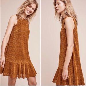 Anthropologie Maeve Amis Velvet Lace Dress